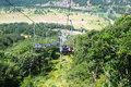 Ropeway in mountain city jermuk armenia Royalty Free Stock Photography