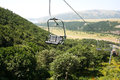Ropeway in mountain city jermuk armenia Stock Images