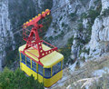 Ropeway yellow vagen of the Royalty Free Stock Photography