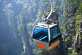 Ropeway at zhangjiajie mountain national forest park hunan province china Royalty Free Stock Images