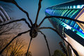 Roppongi hills building with spider sculpture Stock Images