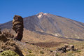 Roque Cinchado and Teide Stock Photos