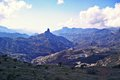 Roque nublo mountain view of in gran canarie Royalty Free Stock Photo