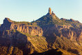 Roque Nublo at sunset Royalty Free Stock Photo