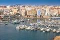 Roquetas de mar nautic port almería spain aerial views Royalty Free Stock Photos