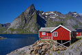 Rorbu hut on Lofoten Royalty Free Stock Photo