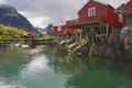 Rorbu huts on Lofoten Royalty Free Stock Image