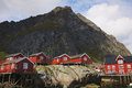 Rorbu huts in Norway Stock Image