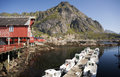 Rorbu, norwegian traditional fisherman houses, Lofoten