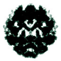 Rorschach inkblot Stock Photography