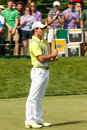 Rory mcilroy at the memorial tournament on th green Stock Photos