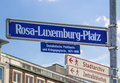 Rosa Luxemburg square in Nuremberg, Germany, 2015 Royalty Free Stock Photo