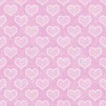 Rosa und weiße polka dot hearts pattern repeat background Lizenzfreie Stockbilder