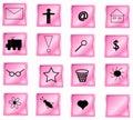 Rosafarbene Tasten Lizenzfreie Stockbilder