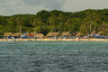 The Rosario Islands are an archipelago comprising 27 islands located about two hours by boat from Cartagena de Indias, Colombia. Royalty Free Stock Photo