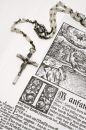 Rosary and Bible (Close View) Stock Photography