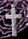 Rosary With Purple Beads Royalty Free Stock Photo