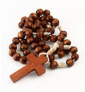 Rosary on white Stock Photo