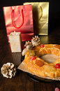Roscon de Reyes and presents Stock Images