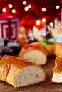 Roscon de reyes, spanish three kings cake Royalty Free Stock Photo