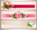 Rose banners set Royalty Free Stock Image