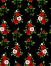 Rose on black background seamless 1