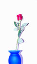 Rose in a blue vase Royalty Free Stock Photo