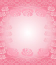 Rose border pink frame with an white shaded center Stock Image