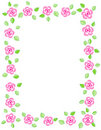 Rose border / wedding invitation Stock Images