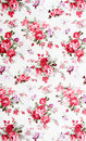Rose bouquet design seamless pattern on fabric as background Stock Photography