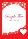 Rose card template vermelha Imagem de Stock