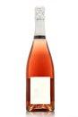 Rose champagne bottle isolated on white background Stock Image