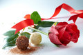 Image : Rose With Chocolate cookie praline