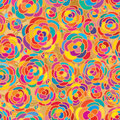Rose colorful golden connect seamless pattern Royalty Free Stock Photo