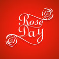 Rose day for valentine week colorful card background illustration Stock Image