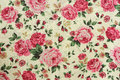 Rose design seamless pattern on fabric Royalty Free Stock Photo