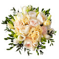 Rose flower bouquet for the bride isolated on white Royalty Free Stock Photo