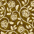 Rose Flowers Seamless Vector Repeat Pattern Royalty Free Stock Photos