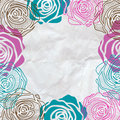 Rose frame invitation Royalty Free Stock Images