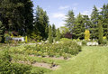 Rose garden with beautiful designs at woodland park zoo Stock Photo