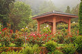 Rose garden gazebo Royalty Free Stock Image