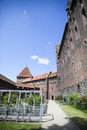 Rose garden at Malbork castle Royalty Free Stock Photo