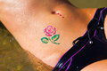 Rose glitter-tattoo 2 Royalty Free Stock Images