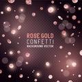 Rose Gold glitter Confetti Royalty Free Stock Photo