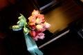 Rose hand bouquet wedding flower rossa Fotografie Stock