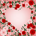 Rose heart frame Royalty Free Stock Photo