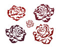 Rose . icons .tattoo . Royalty Free Stock Photos