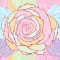 Rose line pastel seamless pattern Royalty Free Stock Photo