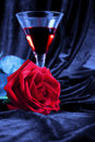 Rose and liquor Royalty Free Stock Photo