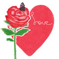 Rose love paint butterfly decor